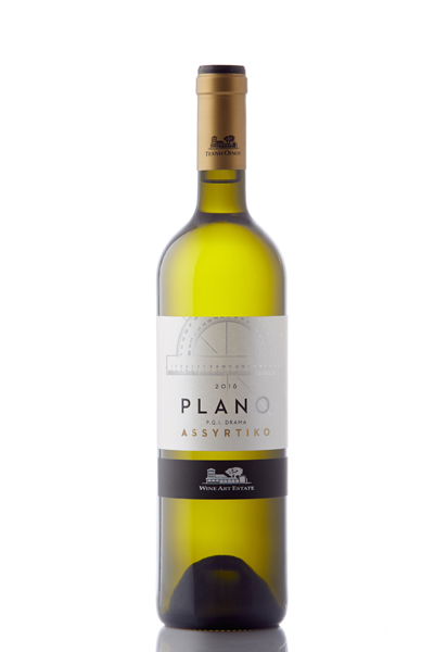 """Plano"" Assyrtiko,White, Protected Geographical Indication Drama"