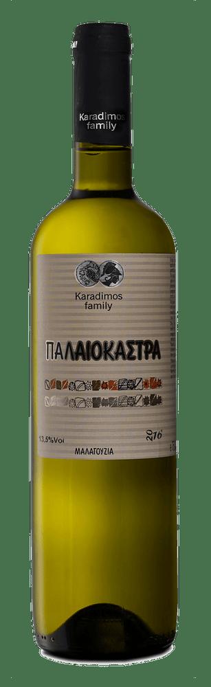 Παλαιοκάστρα ηρό, έντονο αρωματικά κρασί κτήμα Οικογένεια Καραδήμο